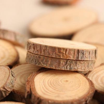 50Pcs Wood Slices For DIY Crafts 2-4CM Log Discs Round Centerpiece Dried Natural