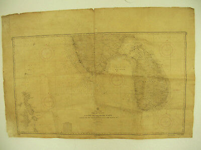 Indian Ocean Map 1935: Cochin to Calimere Point, Ceylon, Maldive, US Navy
