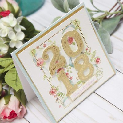 Lace Numbers Metal Cutting Dies Stencil Scrapbooking Embossing Card Craft 1SET