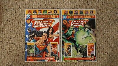 DC Comics Justice League of America WAL-MART exclusive -100 Page Giant  #1- #2.