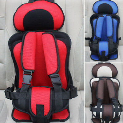 1X Portable Simple Car Child Safety Seat Baby Toddlers Cushion Strap 4-12 Years