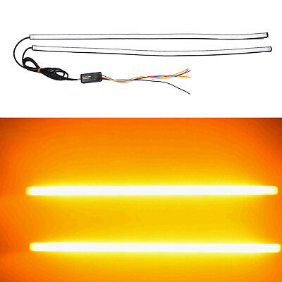 New Amber 2x Flowing Color Led Strip Signal Sequential Light Turn Switchback