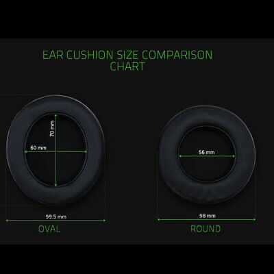 Oval Round Ear Cushion Pad For Razer Kraken 7.1 Pro Chroma V2 USB Gaming Headset