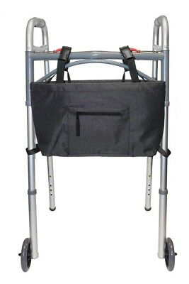 """Tote Bag for Walker and Scooter, Water Resistant, 17"""" x 9"""" Black NEW"""