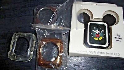Silicone Protective Lot of 4 Apple Watch Covers, Mickey Mouse & 3 Simpeak covers