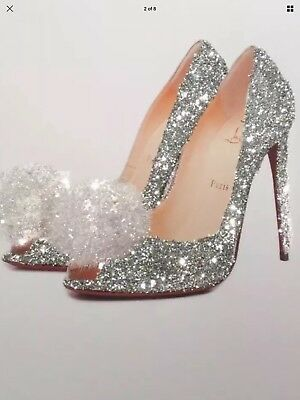 Glitter Shoe picture A4 print only NO FRAME with glitter and diamantes