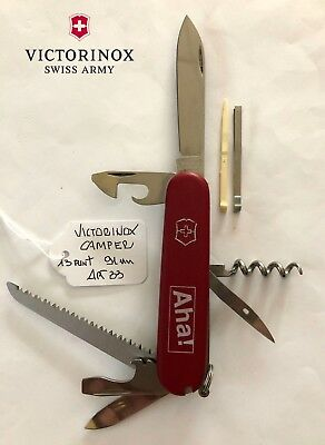 Coltellino Victorinox Camper Red Opaco 91Mm 13 Funz Swiss Army Knife