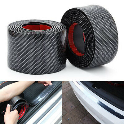 Bumper Strip Rubber Door Sill Protector Car Stickers Edge Guard Carbon Fiber