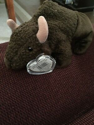 TY Beanie Baby ROAM the Buffalo New With Tags And Tag Protector