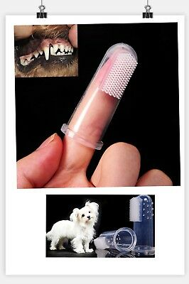 5PC Soft Finger Toothbrush Pet Dog Oral Dental Cleaning Teeth Care Hygiene Brush