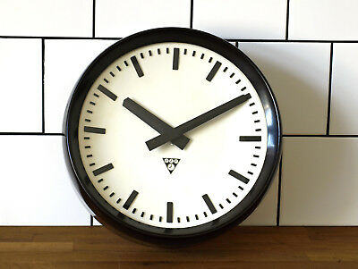 12 1/2inch deep running old Pragotron wall clock Factory School Railway vintage