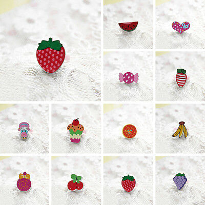 Jewelry 5PCS Children Toddlers Girls Ring Adjustable Fashion Gift Cute Lovely