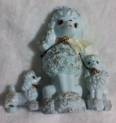Vintage 1950's Spaghetti Mother Poodle and Pups One Pup Damaged
