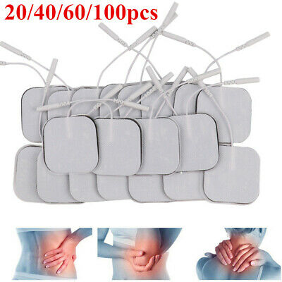 20PCS Reusable TENS Electrodes Pads Machine EMS Replacement Self-Adhesive DE