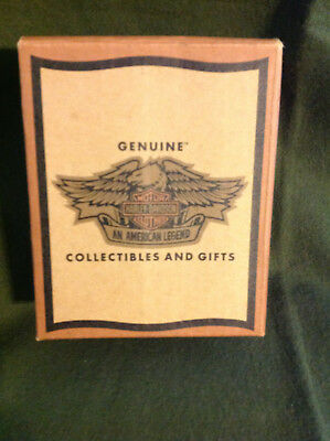 Harley Davidson Deck of Playing Cards in Collectible Wooden Box