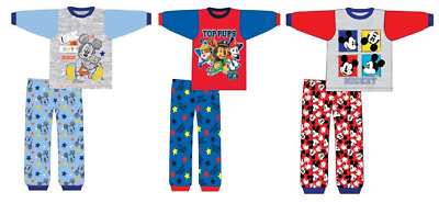 Baby Boys Long Sleeve Pyjama Mickey Mouse And Paw Patrol 6/24 Months