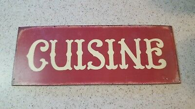 CUISINE   tin sign 151/2 L X 6 W DECORATING -KITCHEN