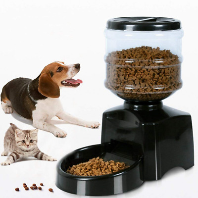 5.5L Dispenser Voice Message Recording Large LCD Screen Automatic Pet Feeder NEW