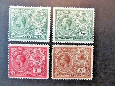 Bahamas, Sc# 65, 66 & 68, King George V (1920)