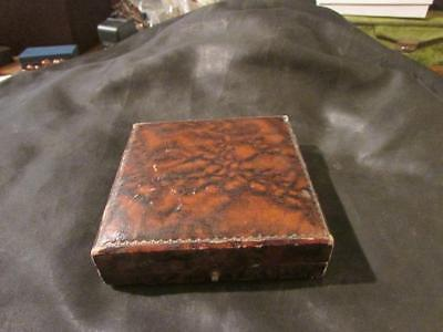 Antique Large Leather Necklace, Bracelet,Brooch Jewellery Display Box, Empty