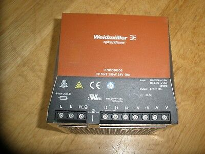 Weidmuller 8708680000 Cp Snt 250W 24V 10A Power Supply
