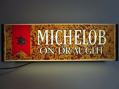 TRUE VINTAGE Michelob Beer On Draught 1970's Lighted Sign Works!!