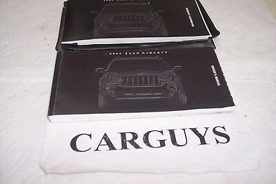 2003 jeep liberty owners manual set with cover case 17 99 picclick rh picclick com 2003 jeep liberty owners manual pdf 2003 jeep liberty sport owners manual pdf