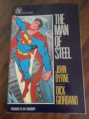 DC - THE Man of Steel - Dick Giodarno and John Byrne  Foreword by Ray  Bradbury