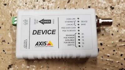 Axis T8642 POE+ Over Coax Device, ethernet to BNC Coaxial interface