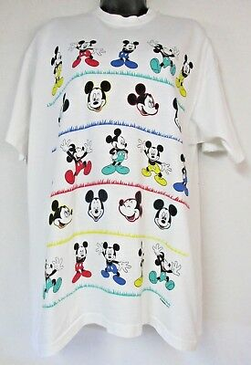 VTG Disney Mickey Unlimited By Jerry Leigh White XL T Shirt Mickey Mouse Graphic