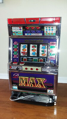 Authentic Working Aruze Japanese Pachislo Skill Stop Token Slot Machine & Manual