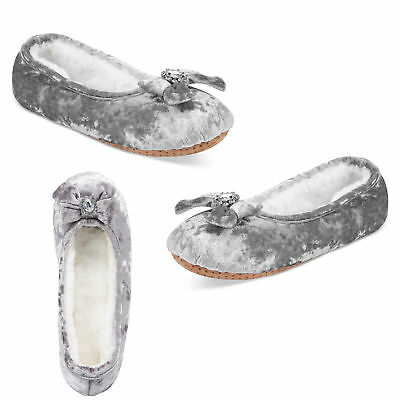 Inc International Concepts Crystals Velvet Ballerina Slippers