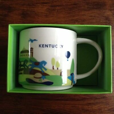 Starbucks Coffee Mug You Are Here Collection Kentucky  Derby theme KY - NEW!