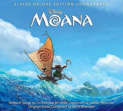 Disney Moana (2016) 2 Disc Deluxe Edition Soundtrack CD FREE SHIPPING