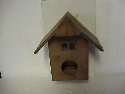 Vintage Empty Maple Color Musical Chalet Cuckoo Clock Case parts repair B