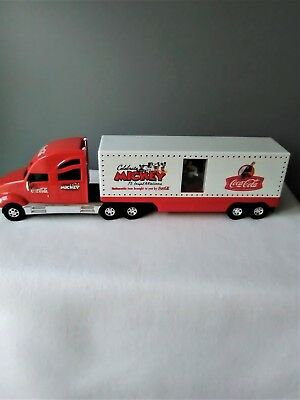 Brand New Coca-Cola Mickey Mouse 2004 Tour Carrier Semi Truck - Lights/sound