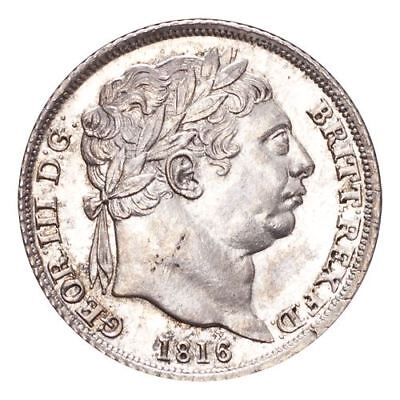 Great Britain George III Silver Coin 1816 Sixpence