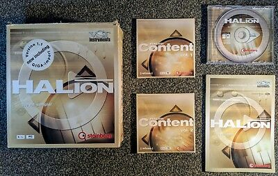 BOXED STEINBERG HALION 1 1 VST sample Instrument with manual and 4 content  CDs