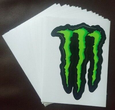 "NEW MONSTER ENERGY DRINK, GREEN CLAW STICKER. 10cm x 7cm (4"" x 2 3/4"")"
