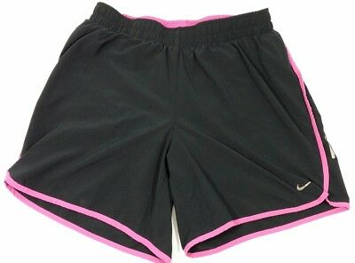 Nike Womens Running Lined Dry Fit Shorts Athletic Sz S Small Pink Black Training
