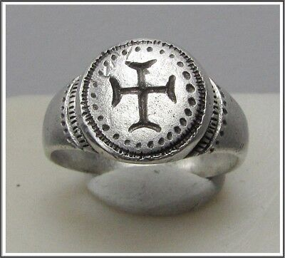 Ancient Silver Byzantine Ring** CROSS **AMAZING**