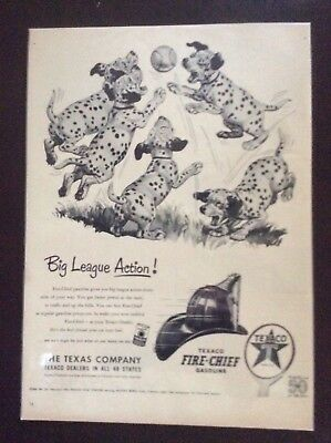 Vintage 1952 magazine ad Texaco Fire Chief Gasoline nice