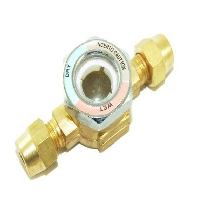 Refrigeration Brass 3/8'' Male To 3/8'' Female Sight Glass - Flare - Rf156