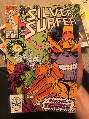 Silver Surfer #44 (Dec 1990, Marvel) Key Issue New Movies Thanos Starlin