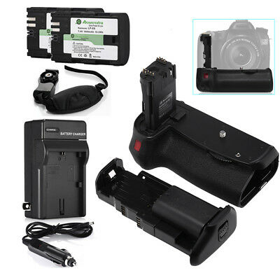 BG-E14 Battery Grip + 2pcs LP-E6 Battery + Charger for Canon EOS 70D 80D 6D 5D