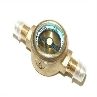 Refrigeration Brass 1/4''M To 1/4''M Sight Glass - Italian Made - Flare - Rf364