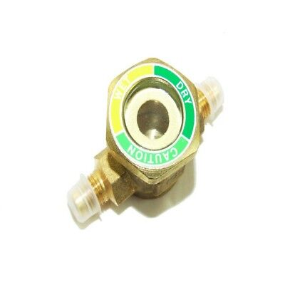 Refrigeration Brass 1/4''M To 1/4''F Sight Glass - Italian Made - Flare - Rf364A
