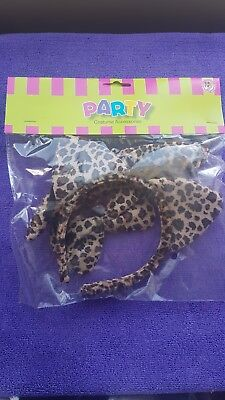 Leopard Headband With Ears+Bow Tie+Tail- 3Pc Dress Up Set-Costume-Party