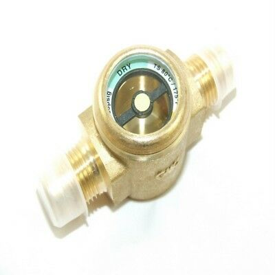 Refrigeration Brass 3/8''M To 3/8''M Sight Glass - Italian Made - Flare - Rf365