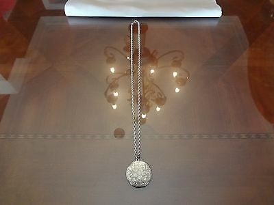 Vintage Sterling Silver Locket With Heavy Sterling Silver Necklace-Both Very Old
